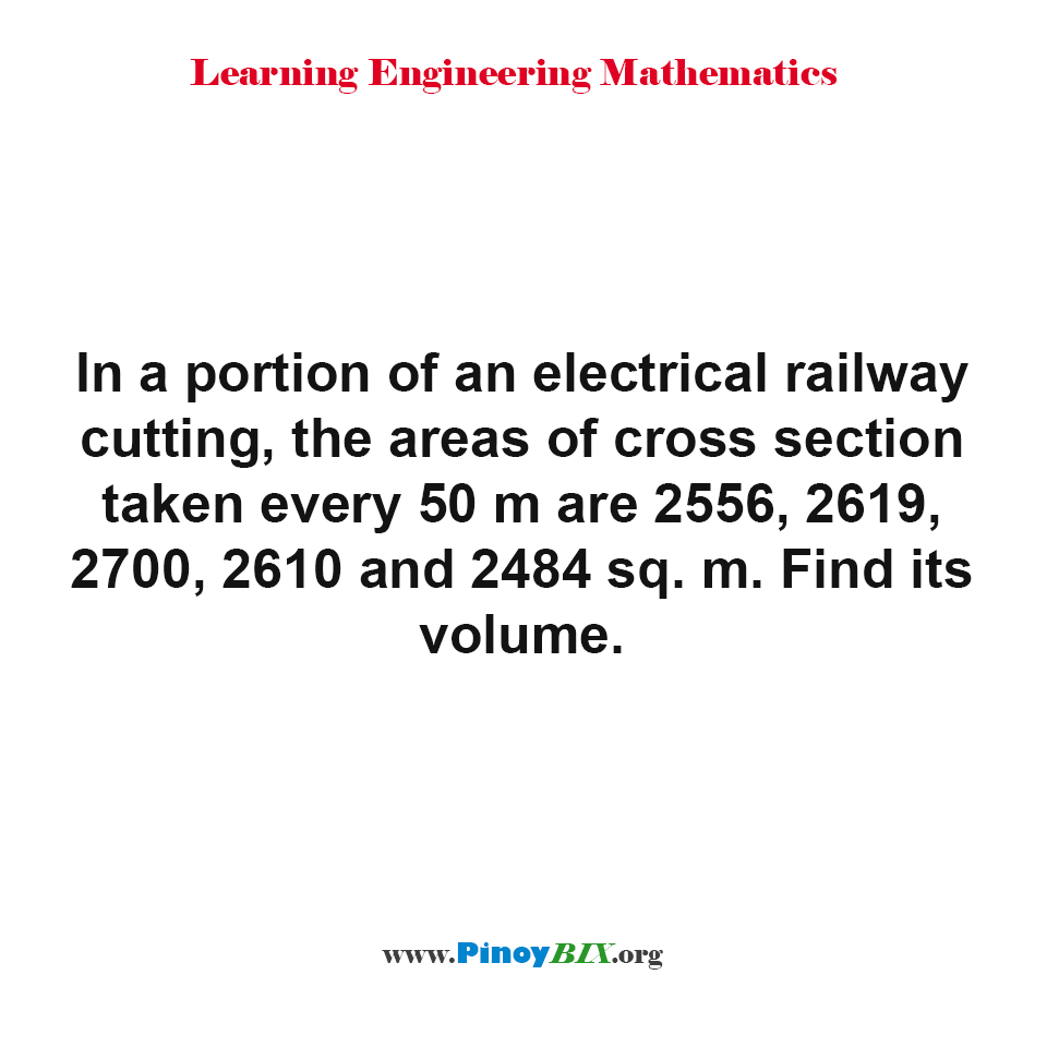 Find the volume of a portion of an electrical railway