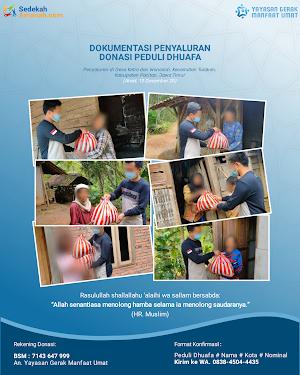 Penyaluran Bantuan Paket Sembako Untuk 8 Dhuafa
