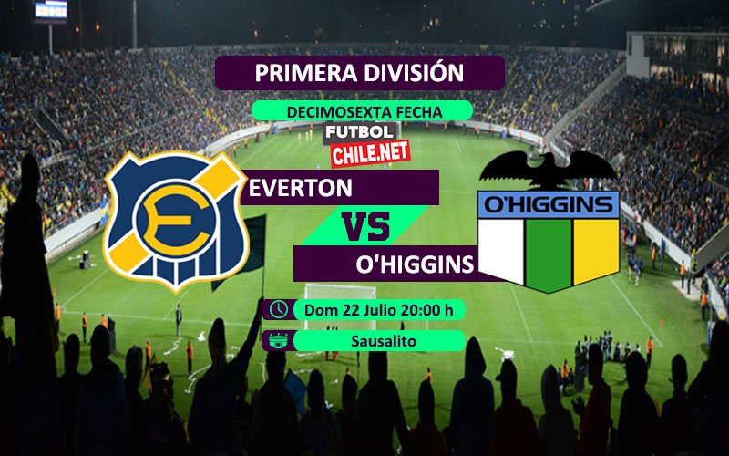 Mira Everton vs O'Higgins en vivo y online por la Primera División de Chile