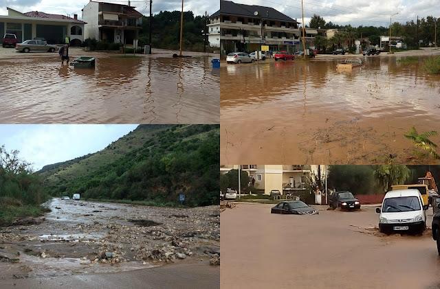 Θεσπρωτία: Μεγάλες καταστροφές από τις πλημμύρες σε Ηγουμενίτσα - Μαυρούδι και Νέα Σελεύκεια