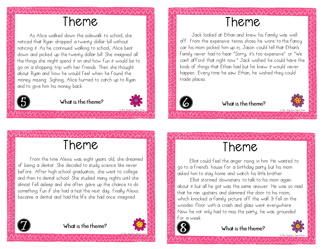Activities to Teach Theme   Upper Elementary Snapshots [ 816 x 1056 Pixel ]