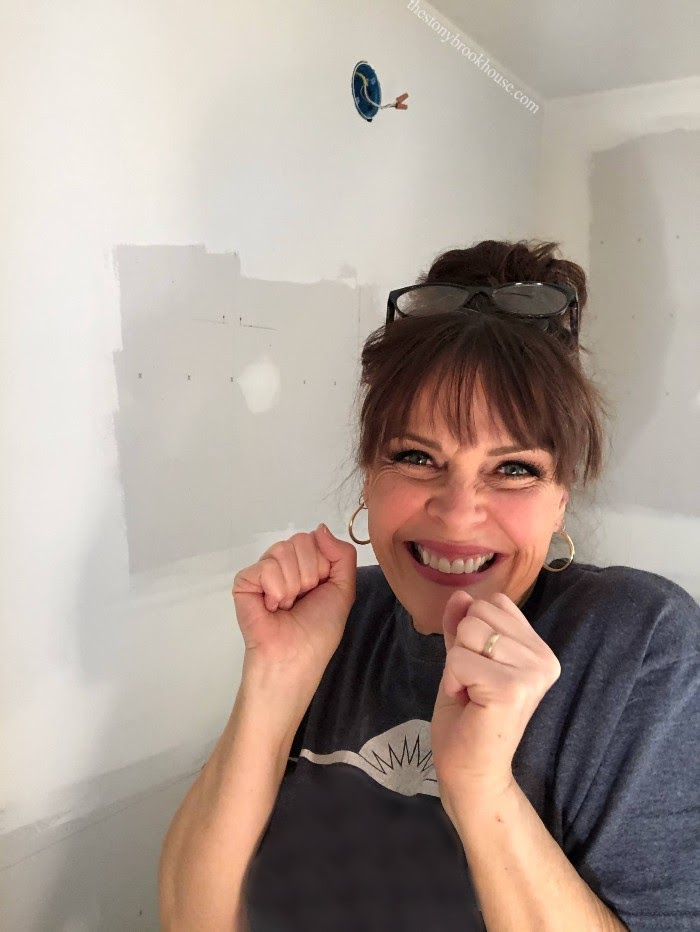 Yay! I did it! I drywalled a whole room!