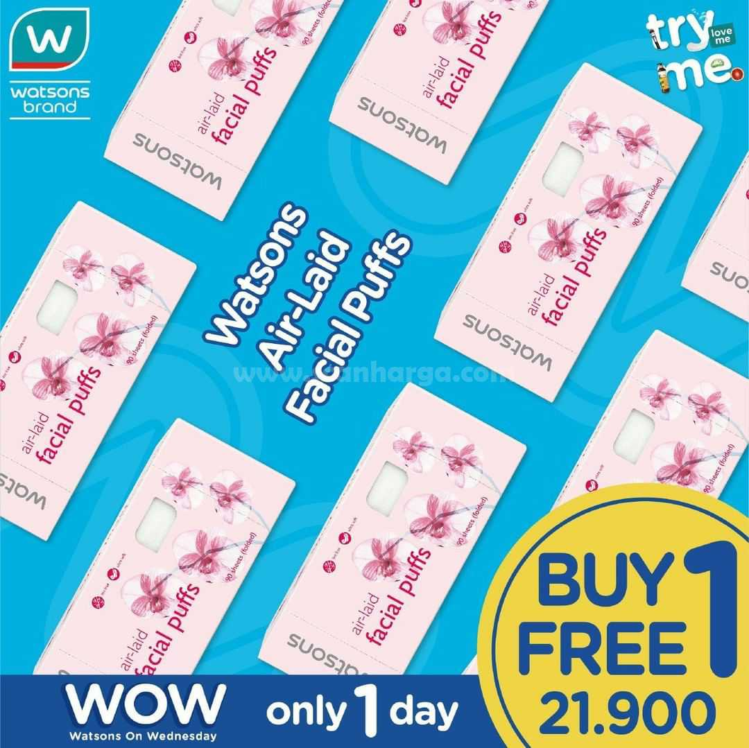 Promo Watsons Sehari Wow Only 1 Day Buy 1 Get 1 Free