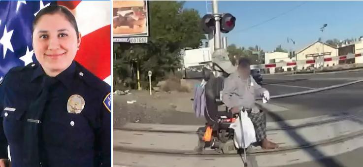 في مشهد يحبس الأنفاس.. شرطية تنقذ رجلا عالقا قبل أن يدهسه القطار!