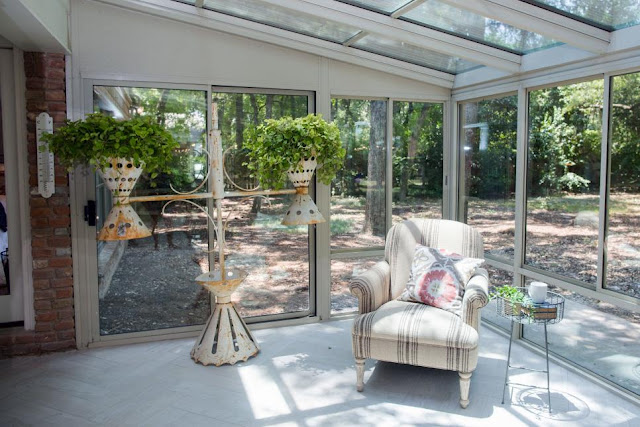 sun room with wayfair chair