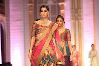 Huma Qureshi walks for Ashima Leena at Aamby Valley India Bridal Fashion Week 2013
