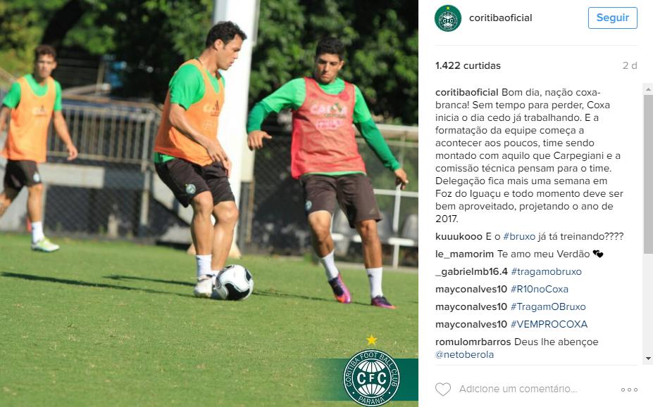 Torcedores do Coxa se mobilizam para possível vinda de Ronaldinho Gaúcho (Foto: Reprodução/Instagram)