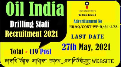 OIL India Duliajan Recruitment 2021