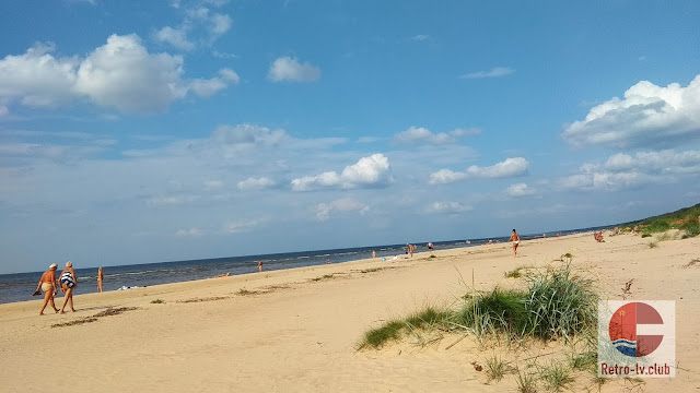 Nudist beach Vecaki in Latvia Riga
