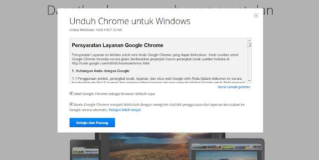 Proses Download Google Chrome