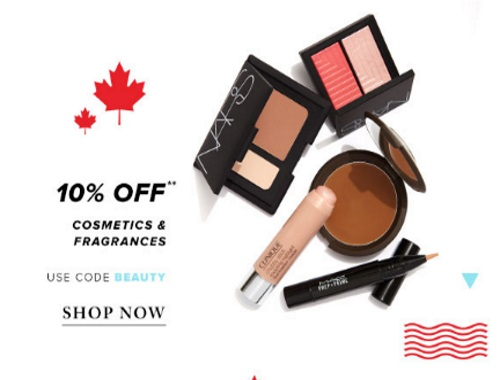 Hudson's Bay 10% Off Cosmetics & Fragrances Promo Code