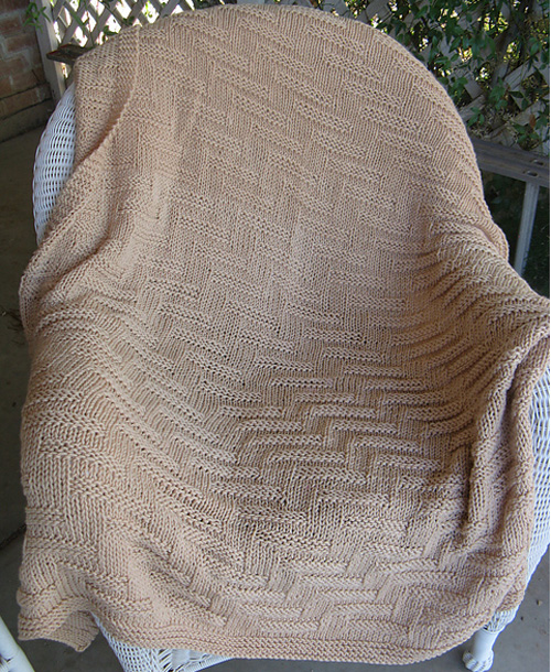Simple Chunky Blanket - Free Pattern