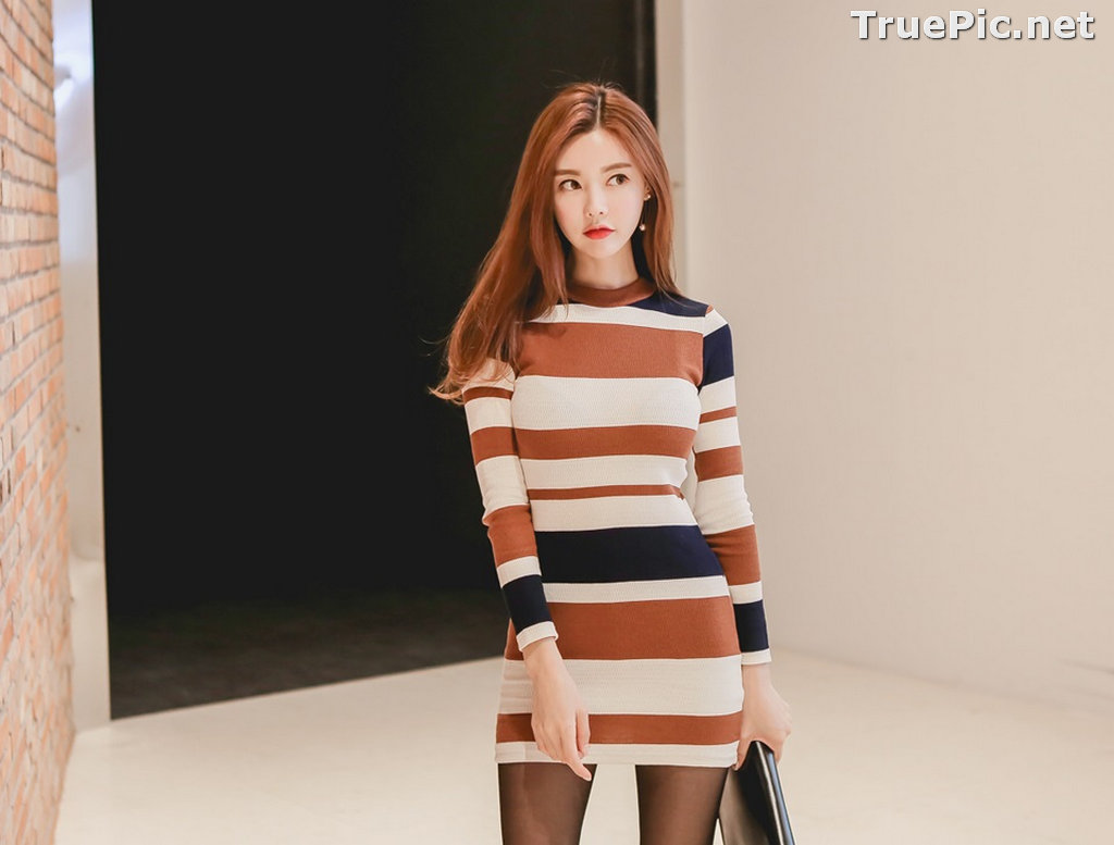 Image Korean Fashion Model – Hyemi – Office Dress Collection #2 - TruePic.net - Picture-1