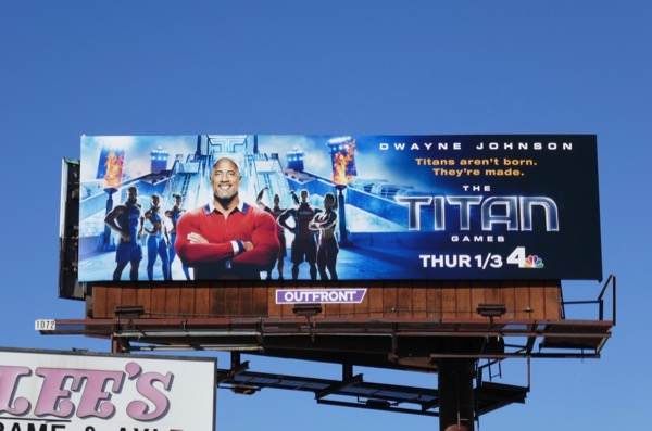 Titan Games series launch billboard