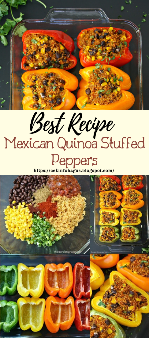 Mexican Quinoa Stuffed Peppers #vegan #vegetarian #soup #breakfast #lunch