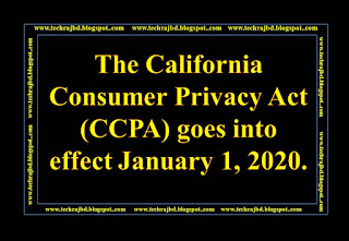 The California Consumer Privacy Act (CCPA) goes into effect January 1, 2020.