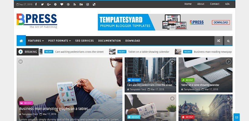 Bpress Free Blogger Template