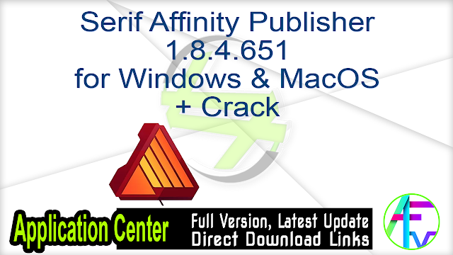 Serif Affinity Publisher 1.8.4.651 for Windows & MacOS + Crack