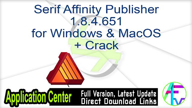 Serif Affinity Publisher 1.8.4.651 for Windows & MacOS + Crack