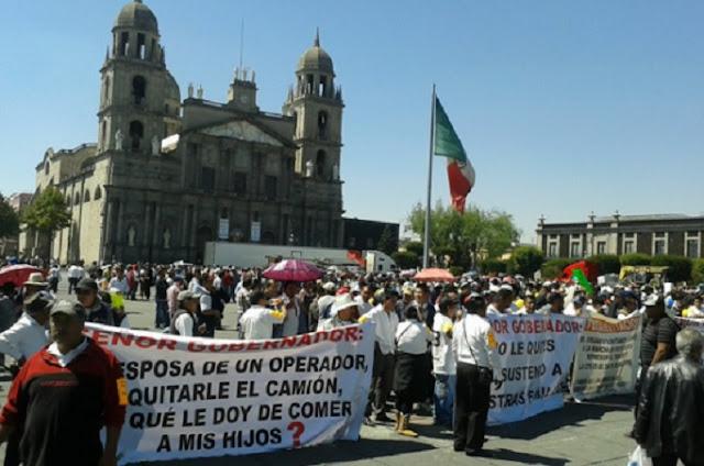 Choferes de camiones en Toluca