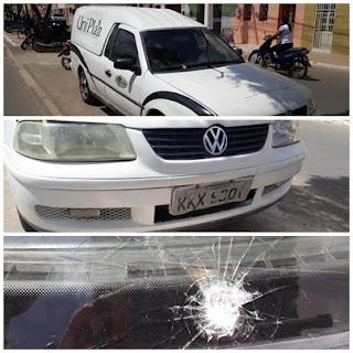 Homens tentam assaltar carro de funerária na BR 104 em Cuité