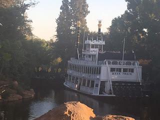 Fantasmic Set Up from the Disneyland Railroad