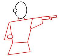 Langkah 2.Super Simpel Menggambar Karateka