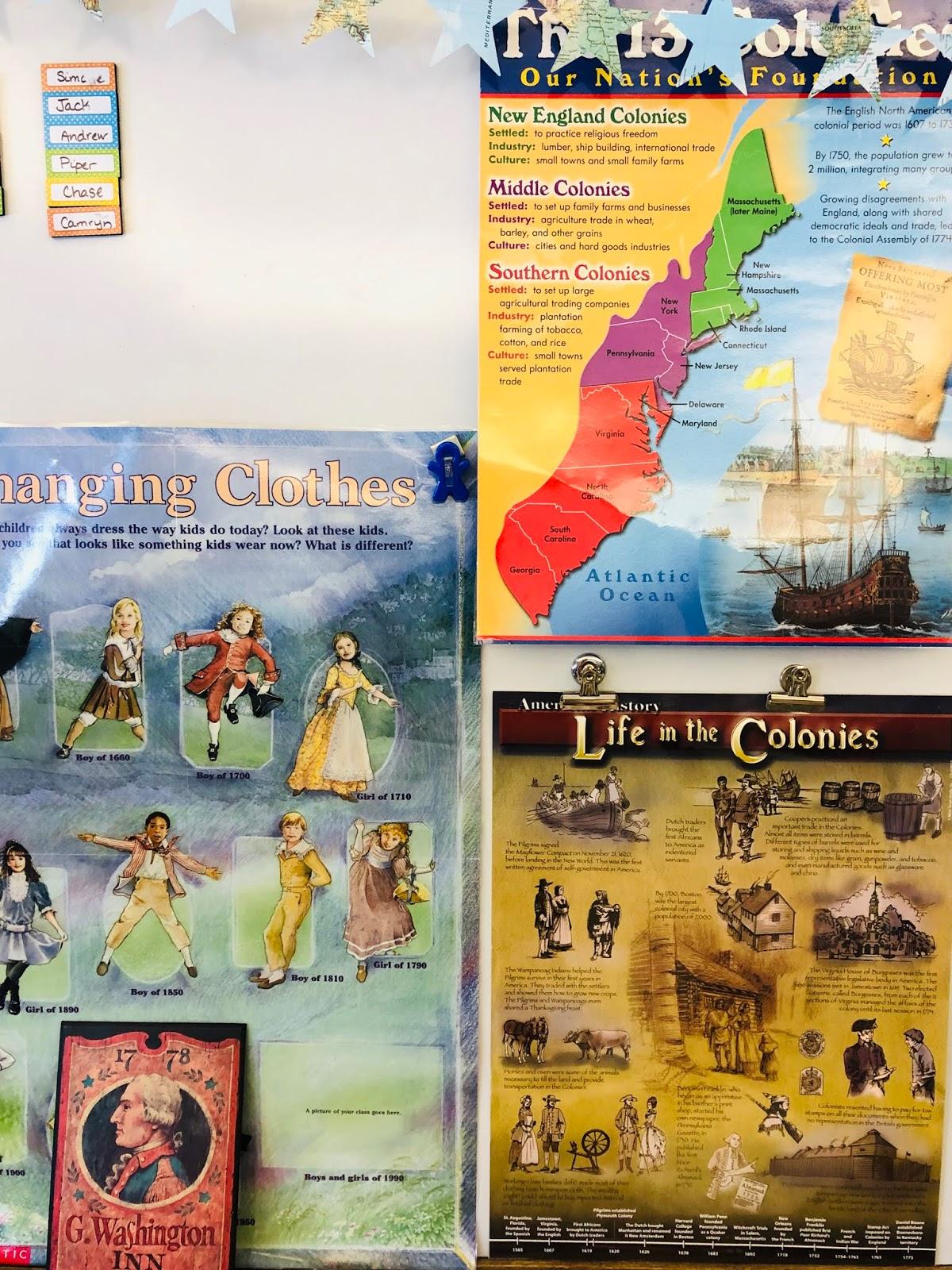 Worksheet Colonial America