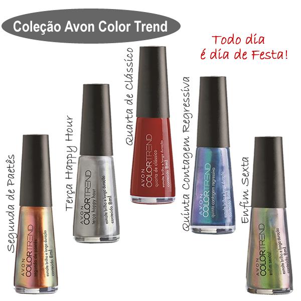 """Esmaltes Avon Color Trend Todo Dia é Dia de Festa. """" 5f18594a94"""