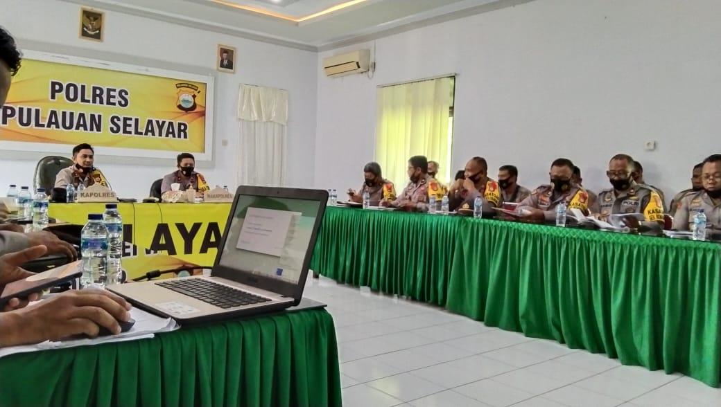 Jelang Coblosan, Kapolres Kepulauan Selayar Ingatkan Jajarannya Potensi Kerawanan Konflik