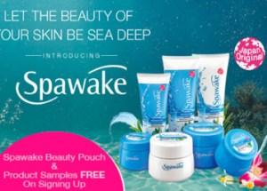 Get Spawake Beauty Pouch And Product Sample