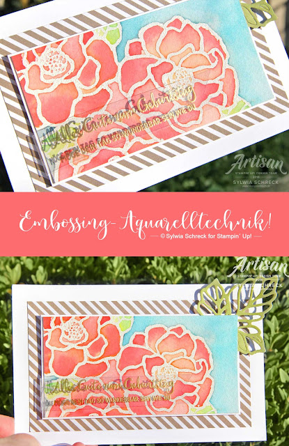 Stampin Up-Aquarelltechnik