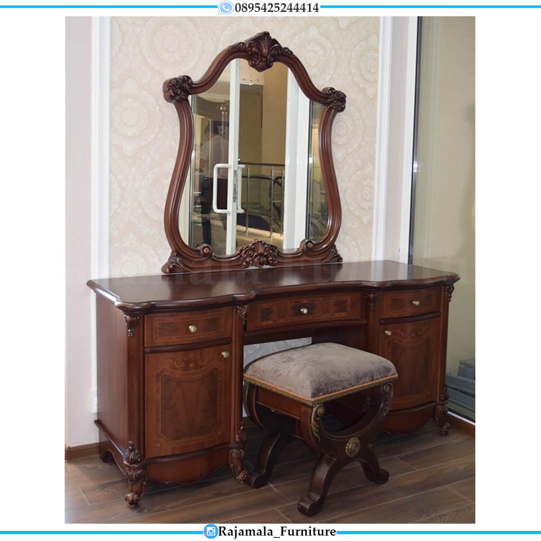 Harga Meja Rias Mewah Jepara Jati Perhutani Classic Luxury Design RM-0482