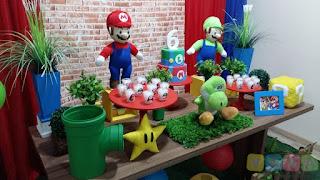 Decoração festa infantil Super Mario Bros Porto Alegre