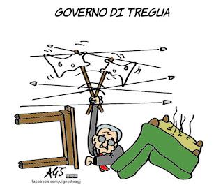 mattarella, governo tecnico, partiti, accordi, maggioranza, politica, vignetta, satira