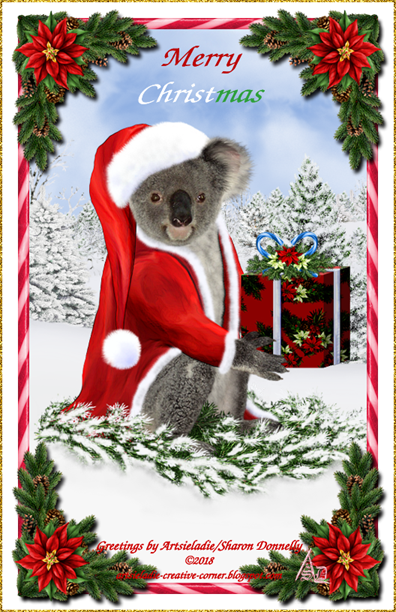Koala Klaus (in red) art by/copyrighted to Artsieladie