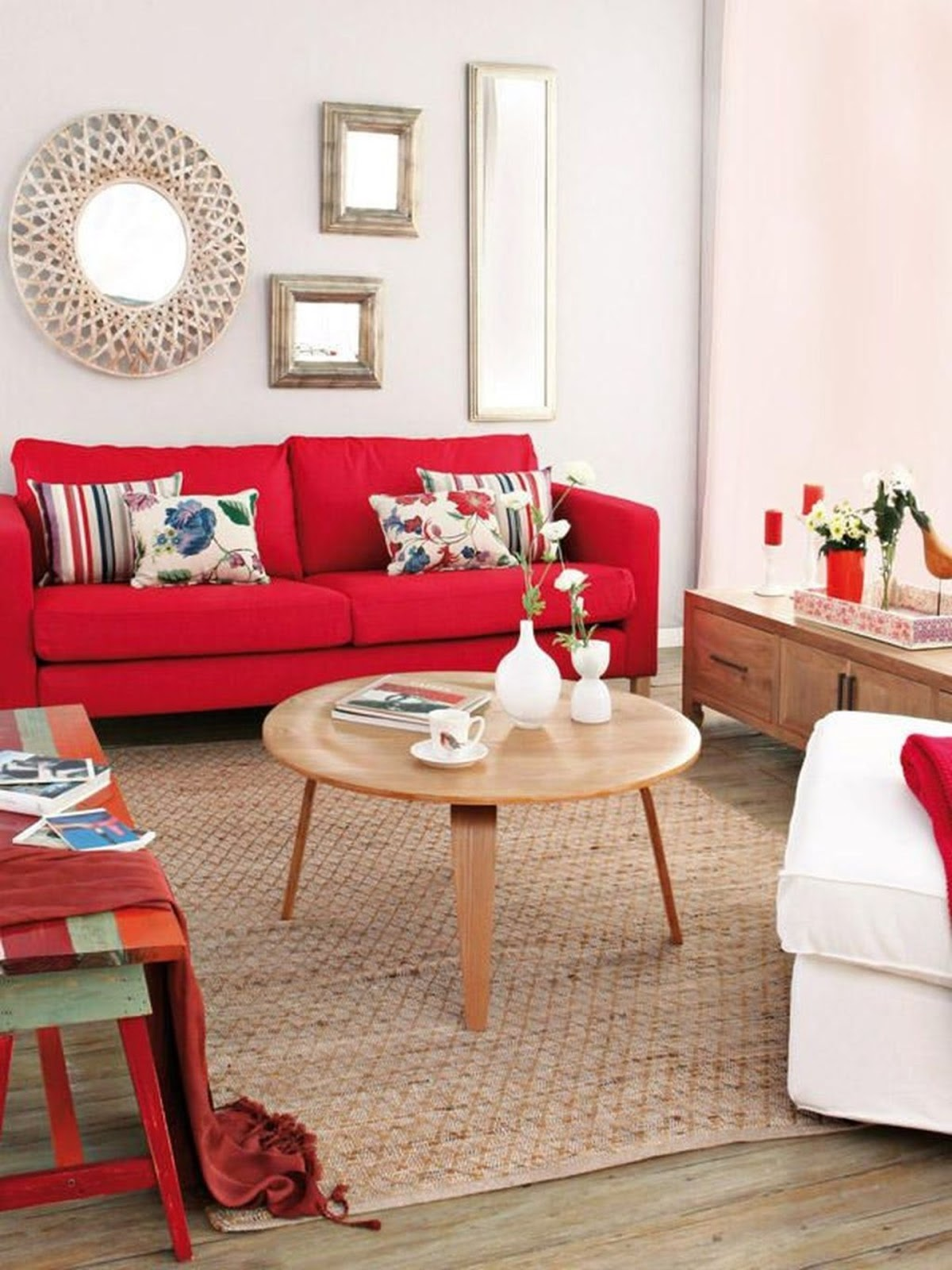 luxury red apartment with rustic accents ideas