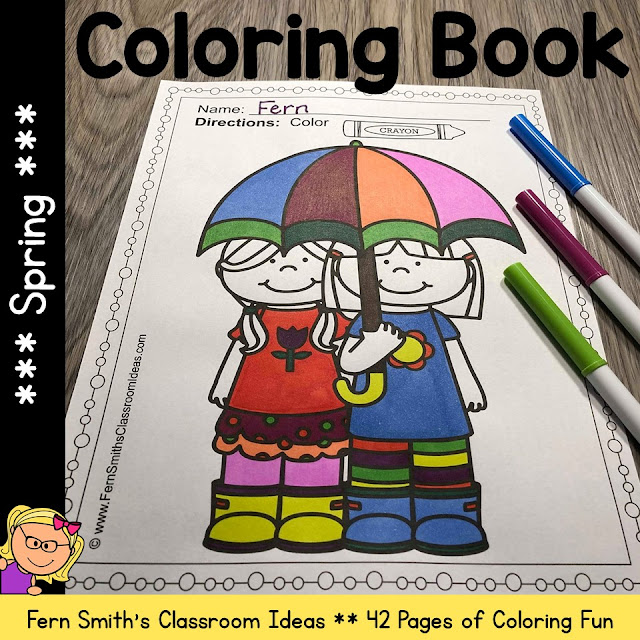 Spring Coloring Pages - 42 Pages of Spring Coloring Fun #FernSmithsClassrom