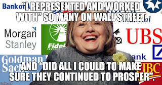 Hillary Clinton corrupt, wall street hillary, bankers hillary