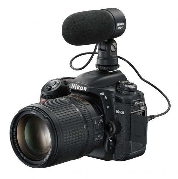 На Nikon D7500 можно установить микрофон