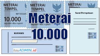 Penggunaan Meterai 10.000