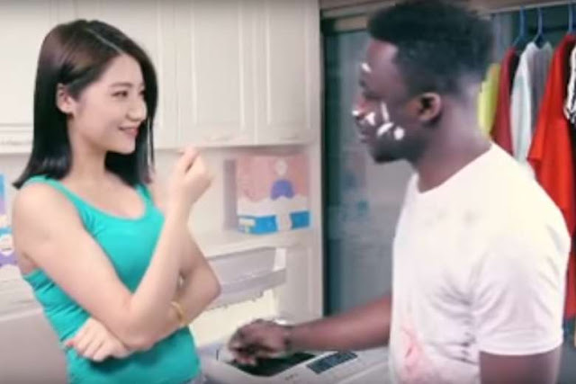 Following outcry of racism against Africans in India, an ad in China gone viral by targeting a black man.   A racist laundry detergent ad turns a black man into Chinese after a brutal wash.   The ad promoting Qiaobi detergent is now being shown on Chinese TV and movie theatres. It has also gone viral on Chinese messaging app WeChat.