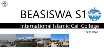 Beasiswa S1 Libya - Internasional Islamic Call College 2021