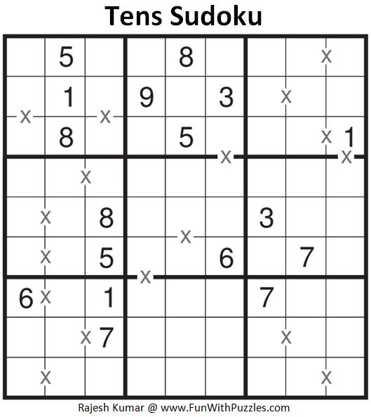 Tens Sudoku (Fun With Sudoku #141)