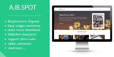 [Download] Ajbspot  MultiPurpose Premium & Responsive Blogger Template Blogspot/Blogger Template 100% Responsive Template Free Download