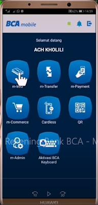 Cara Mutasi BCA Mengunakan m-BCA 3
