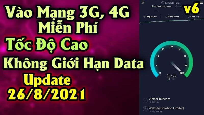 File Vào Mạng 4G Tốc Độ Cao V6 - Cập nhật ngày 26/08/2021