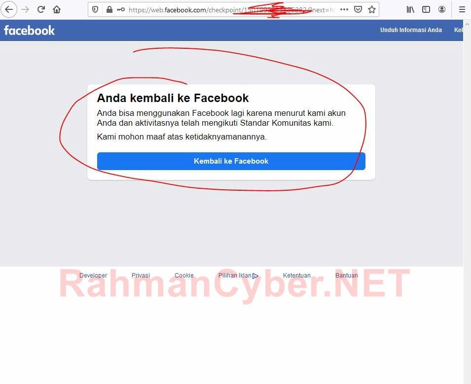 Peninjauan Facebook Otomatis berhasil