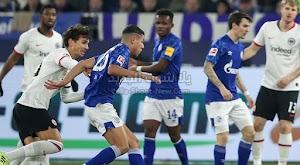 بهدف وحيد شالكه يحقق فوز هام على نادي آينتراخت فرانكفورت في الدوري الالماني