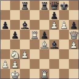 Partida de ajedrez Tukmakov vs. Huebner en 1965, posición después de 34.g6!!